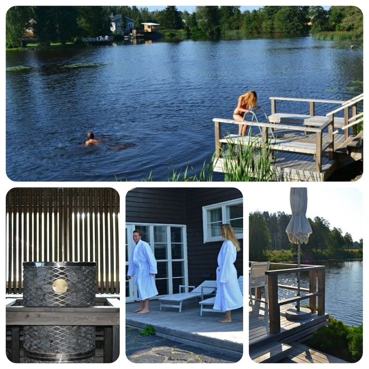 Sauna by a river in Noormarkku, close to Pori. Three saunas to choose from and a hot tub by a river, where you can swim in natural water. These premises meet even the highest requirements, suits also for business purposes.