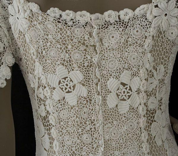 irish crochet lace dress - Google Search