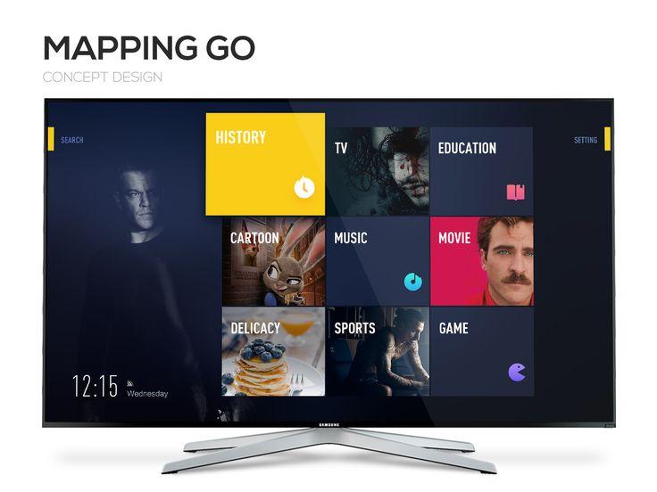 "查看此 @Behance 项目:""Mapping Go 智能电视系统概念设计""https://www.behance.net/gallery/43161663/Mapping-Go-"