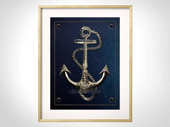 Anchor Decor Nautical, Anchor Print, Navy, Nautical Decor, Nautical Nursery, Anchor Art Print, Lake House Decor, Sailing Art, Anchor Print