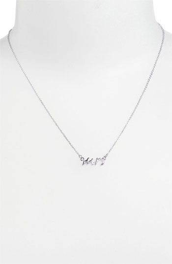 Yay it comes in silver now!  kate spade new york 'say yes - mrs' necklace available at #Nordstrom