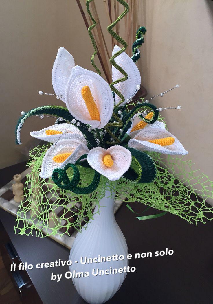 329 besten crochet flower arrangements Bilder auf Pinterest ...