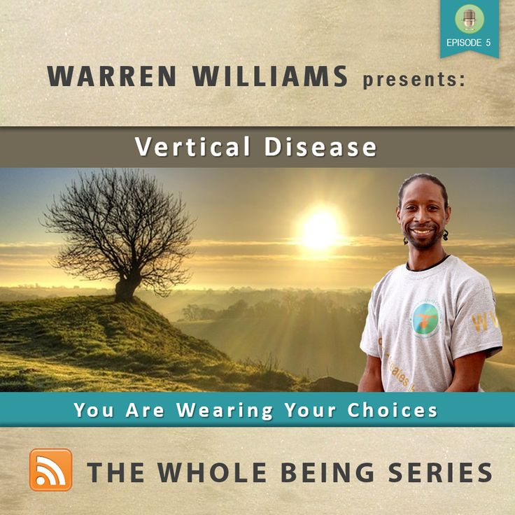 There is a scale that expresses our health termed 'the vitality scale' with a rating from 1-10, it shows us that when our level of vitality drops below 7, we are open to bacterial overgrowth, sickness and eventual death. Listen to the podcast here:  http://warrenwilliamscoaching.com/vertical-disease-wearing-choices/
