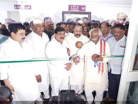 Inaugurated ESIC Model Dispensary cum Diagnostic Center along with Shri Nayani Narasimha Reddy, Hon'ble Home Minister of Telangana, Shri Mahender Reddy, Hon'ble Transport Minister Govt of Telangana, Shri Malla Reddy, M.P, Shri K.P Vivekanand, MLA, Shri Ramchander Rao, MLC along with Labour and Employment Ministry officials at ESIC Jeedimetla, Quthbullapur Assembly constituency, Medchal.