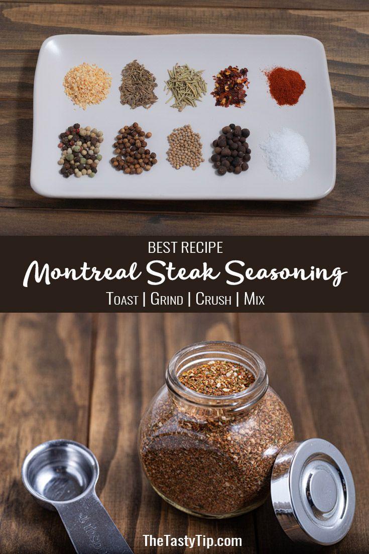 How To Make The Best Montreal Steak Seasoning Recipe The Tasty Tip Recipe Montreal Steak Seasoning Recipe Seasoning Recipes Steak Seasoning