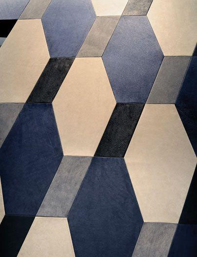 Decoration interieur cuir - Cuir au carré, Conception Eric Gizard.