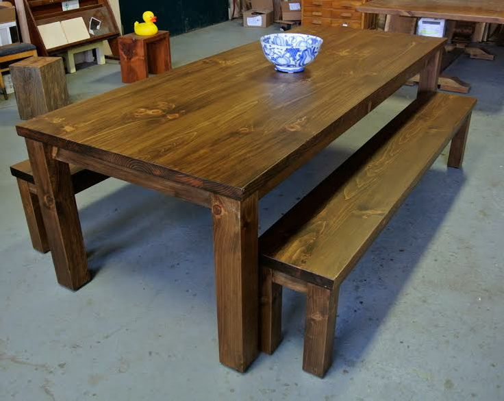 Parson Style Table With Two Benches. #LorimerWorkshop #Americanmade