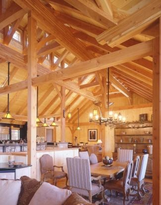 Cathedral Ceiling Timber Frame Home Kitchens Amp Dining Rooms Timber Frame Homes Post Beam