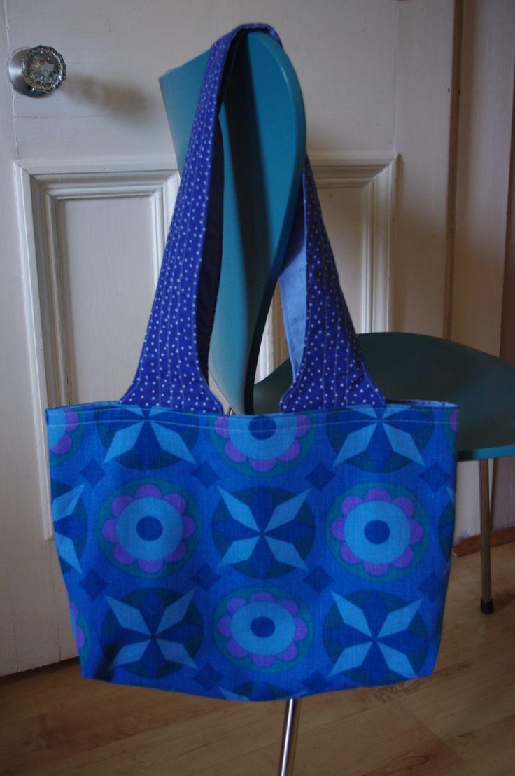 Vintage fabric shopping bag