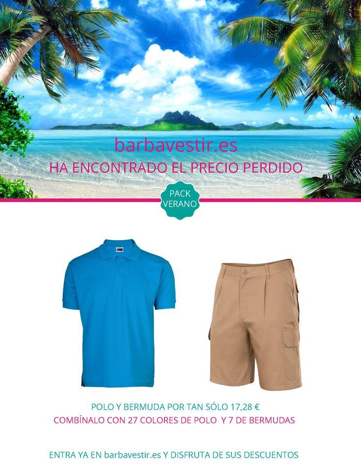 wwww.barbavestir.es encuentra los mejores precios! Polo + Bermuda por sólo 17,28€ Entren y disfruten de los mejores decuentos y promociones. #viajes #ropa #verano #descuento #industria #polo #bermuda #barbavestir.es