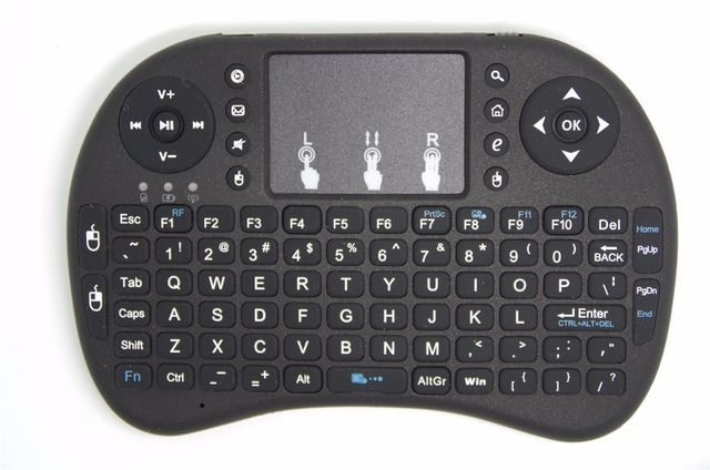 10 pieces/lot Wireless 2.4Ghz game pad mini Keyboard remote Control fly air mouse with Touchpad for Android TV Box US $105.00 /lot (10 pieces/lot) To Buy Or See Another Product Click On This Link  http://goo.gl/EuGwiH