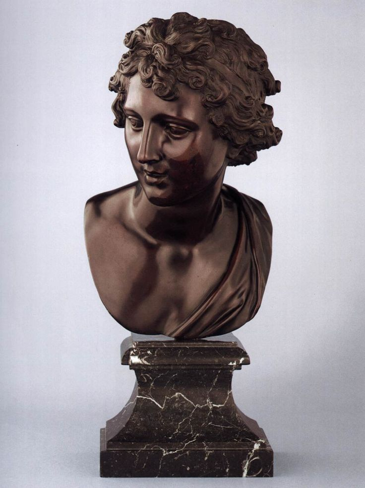 Robert Le Lorrain, Bust of Apollo 1710s Bronze, dark brown lacquer patina, height 39 cm Liechtenstein Museum, Vienna
