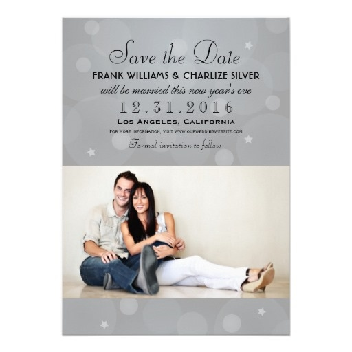New Years Eve Wedding Save The Date