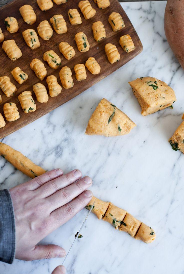 Sweet potato gnocchis_emiliemurmure la farine de sarrasin peut remplacer celle de riz