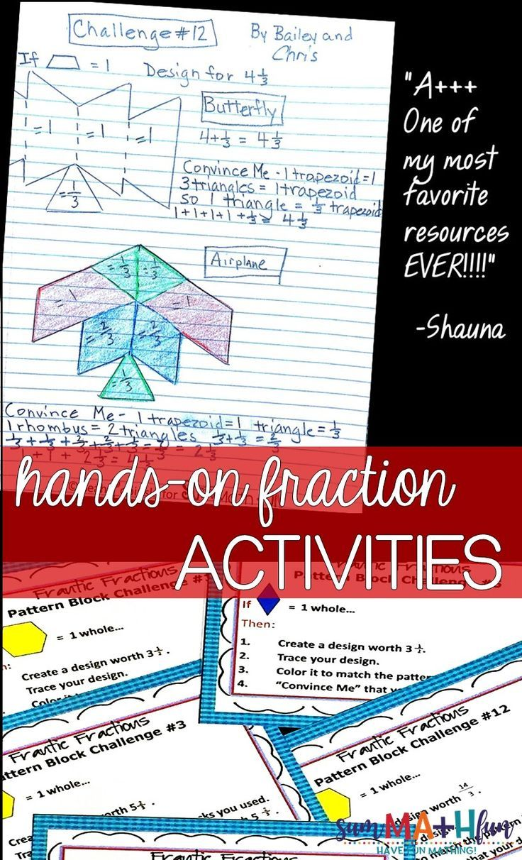 Equivalent Fraction Activities Hands On Task Cards With Pattern