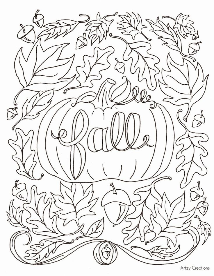 Fall Coloring Pages Printable Free Best Of Free Fall ...
