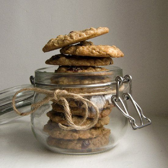 Oatmeal white chocolate cranberry cookies. Crunchy, chewy, with hint ...