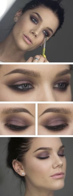 Plum Smokey eye. Matte eyeshadow