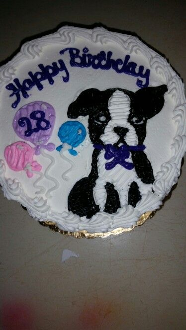 Boston terrier cake