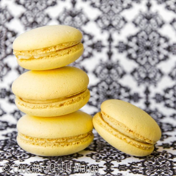 Limoncello Macarons ~ Limoncello and ricotta creme filling  #macarons