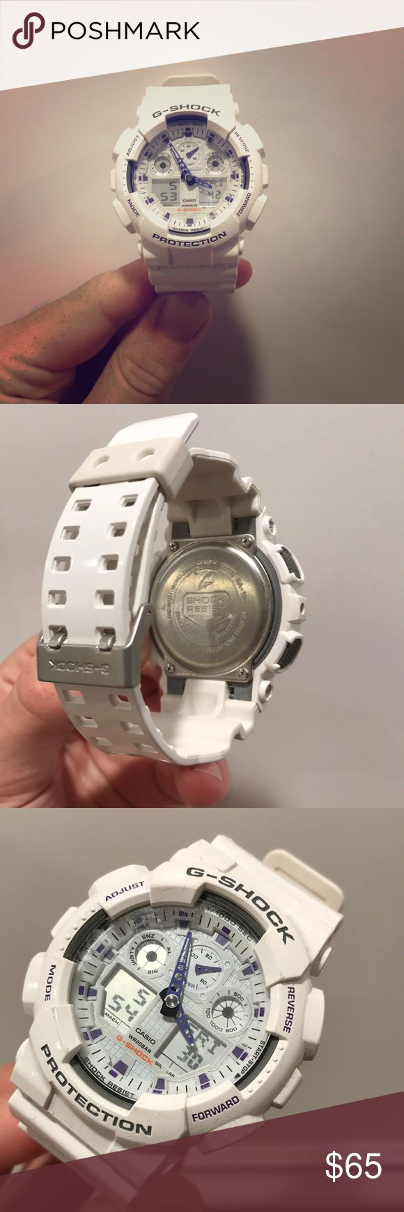 Mint condition CASIO G-SHOCK model WR20BAR. 100% authentic. All-White rare G-Shock watch. Chronograph. G-Shock Accessories Watches
