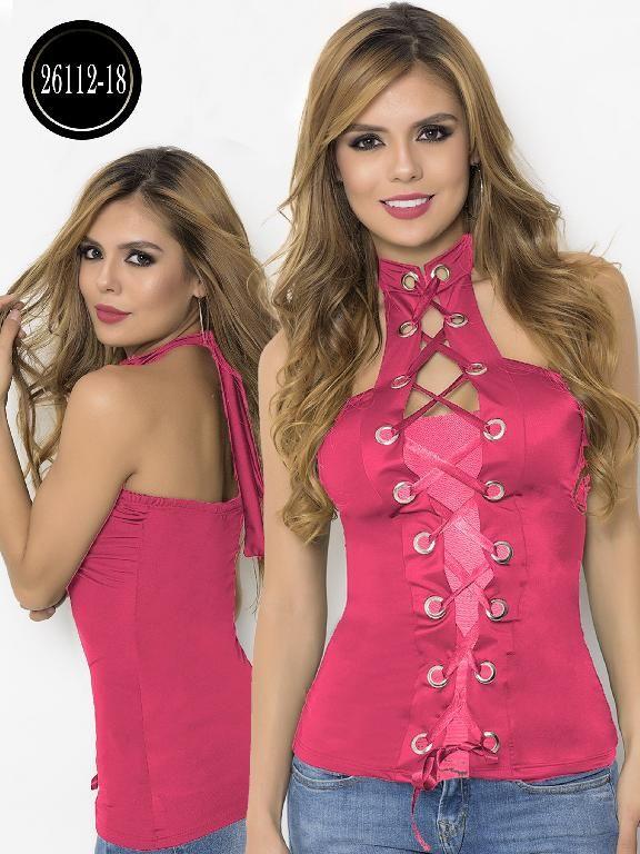 f72e9117e Blusa Moda Colombiana Cereza - Ref. 111 -26112-18 Coral