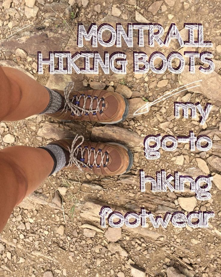 A review of Montrail's leather #hiking boots - the most comfortable hiking boots I've ever owned #outdoorwomen
