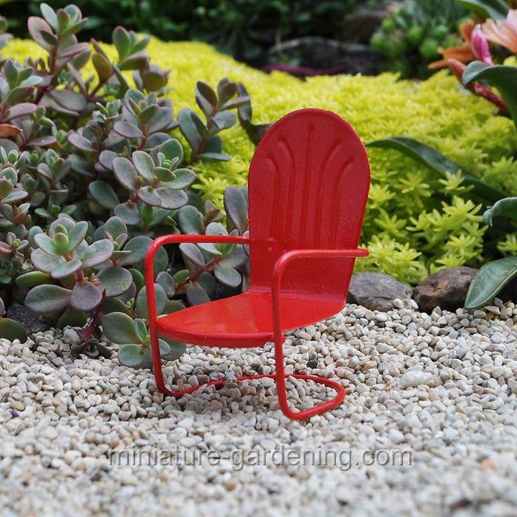 Retro Chair  Mini GardensMiniature. 77 best images about Mini Garden  Furniture on Pinterest