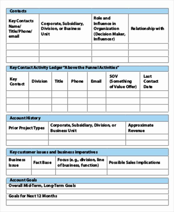 30 Account Plan Template Ppt In 2020 Simple Business Plan