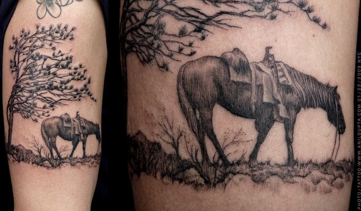 horse tattos for women | natural piece tattoo 25 Enthusiastic Nature Tattoos