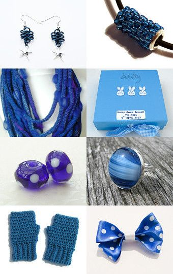 Shades of blue by Helen Mascall on Etsy--Pinned with TreasuryPin.com
