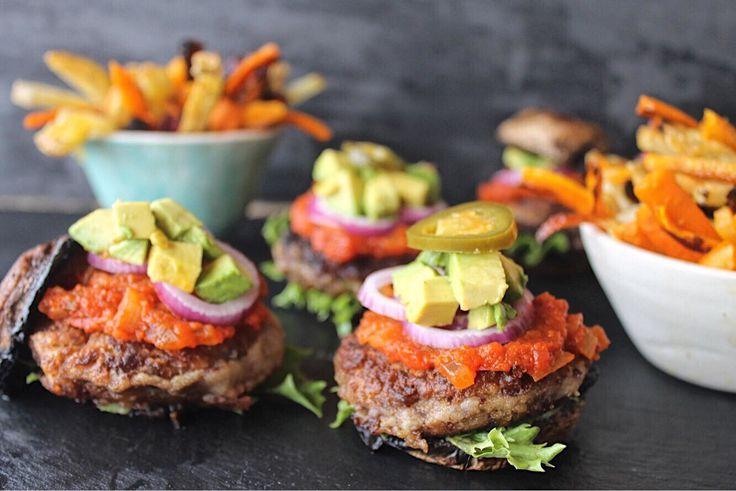 Kidney bean and sweet potato burgers