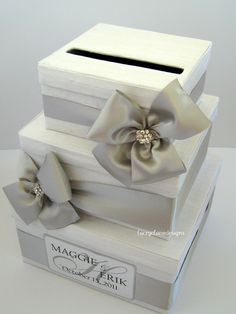 I might not have to buy this, but just in case...Wedding Card Box, Money Card Box, Gift Card Box, Card Holder - Custom Made. $108.00, via Etsy.