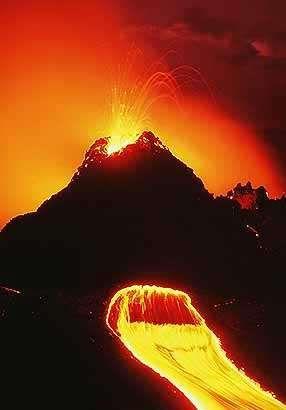 Mt. Kilauea near Volcano Village in Hawaii.