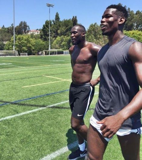 Everton Star, Lukaku Already Training with Pogba Ahead of Old Trafford Transfer (Photos)