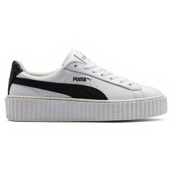 Fenty Puma by Rihanna CREEPERS (€145) ❤ liked on Polyvore featuring shoes, puma shoes, creeper shoes, kohl shoes, puma footwear and black shoes