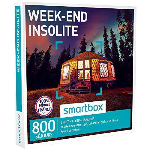 SMARTBOX – Coffret Cadeau – WEEK-END INSOLITE – 800 Séjours : Yourtes, Roulottes, Tipis, Cabanes et Maisons d'Hôtes: 680 séjours : yourtes,…