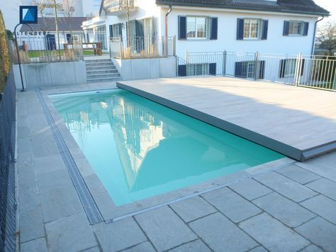 Sliding Swimming Pool Cover And Terrace, Movable Pooldeck, Begehbare  Schwimmbadabdeckung, Schwimmbad Terrasse Automatic