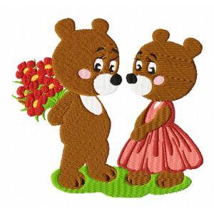 Výšivka - Medvědí námluvy - vyšívání, náš koníček