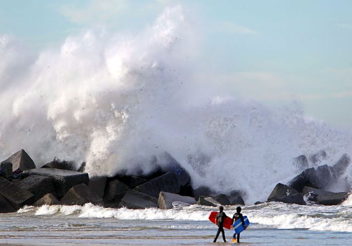 The waves of la Zurriola #surf #SanSebastian