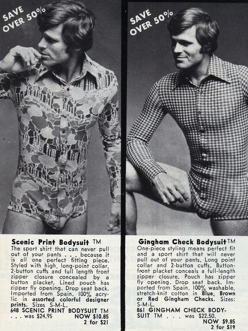 70s Men's bodysuit... Yup...Adding this to mah' Christmas list!