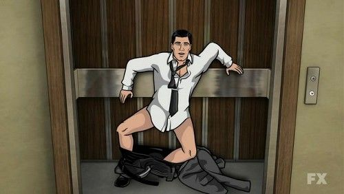 Archer after Pam in elevator.  Because Pam is the best!