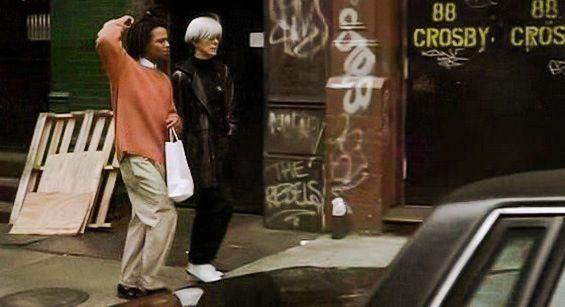Basquiat film location - on the set of New York