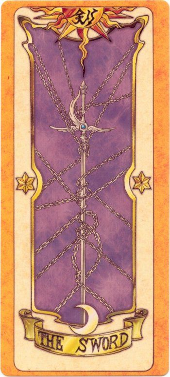 This is The Sword Clow Card from the Card Captor Sakura anime and manga series by CLAMP