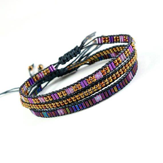 Gypsy Bracelet Bead Stack Bracelet Boho Bead Bracelet