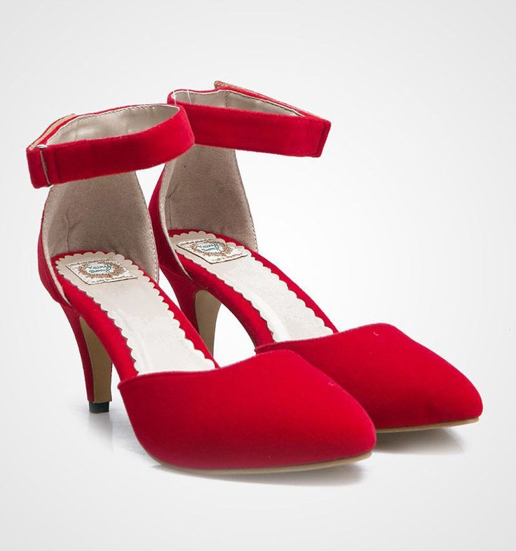 Court Tomato Heels by FairyBerry. Pretty red shoes to be pair with your sleeveless flare dress or skirt and simply clutch bag. This pretty red heels made from suede, cute heels for a casual or semi formal occasion. http://www.zocko.com/z/JIYU2
