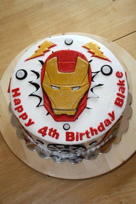 ironman cake ideas | Iron Man Birthday Cake