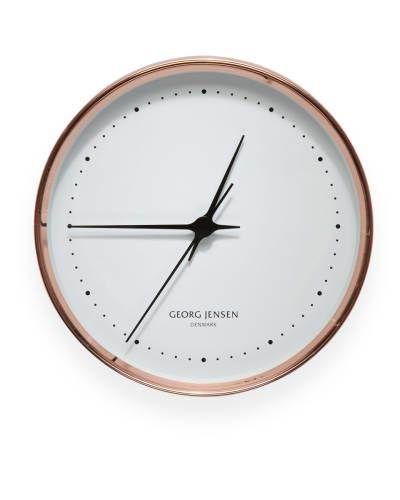 Copper clock by Henning Koppel for Georg Jensen, $365; georgjensen.com.