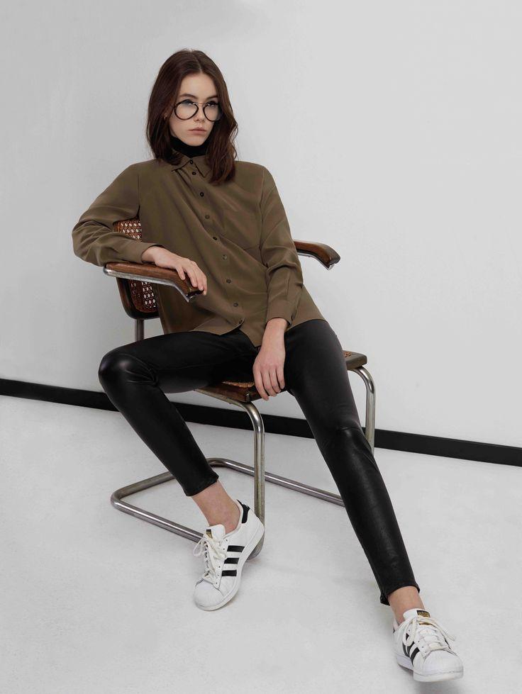 Sankt's Gustav Silk Shirt #FW16 #silk #shirt #raglan #classical #minimalist #urban #chic #sankt #wearesankt #fashion