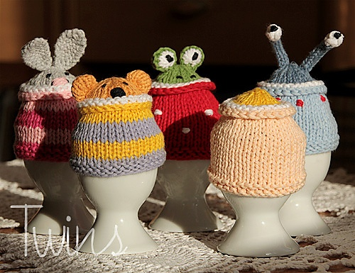 Funny Egg Cosy Gang by Ala Ela. Great idea for Easter gifts.